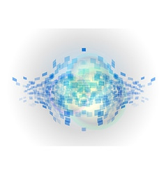 abstract background squares fish blue vector image