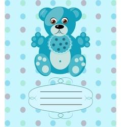baby boy greeting card background eps10 vector image