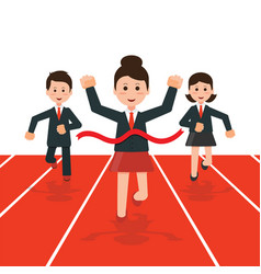 Business people running race competition vector