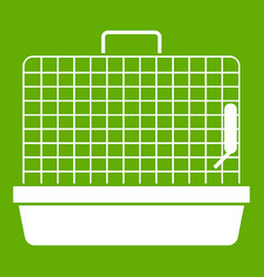 cage for birds icon green vector image