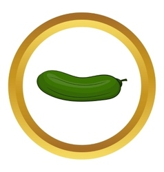 Cucumber icon vector image vector image