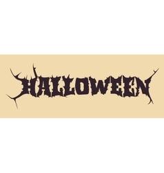 Halloween text calligraphy vector image vector image