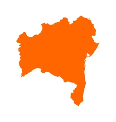 Map of Bahia vector image vector image