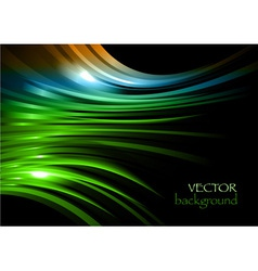 rainbow background new shape black green vector image vector image