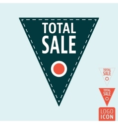 Total sale icon vector