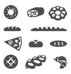 collection of edible products isolated vector image vector image