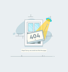 design 404 error page is lost and not found vector image