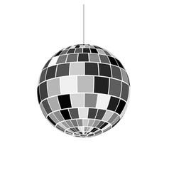 Disco ball icon nightlife of 70s retro disco party vector