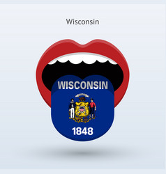 Electoral vote of wisconsin abstract mouth vector