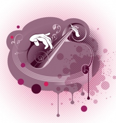 Grunge Abstract Music Composition vector image