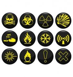 Hazard icon vector