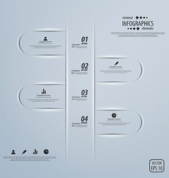 infographics template 2 vector image vector image