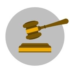Judge gavel flat icon vector image