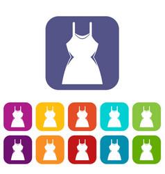 little dress icons set vector image