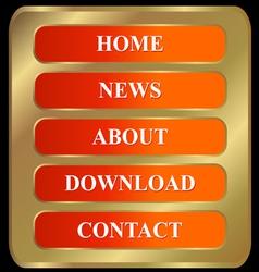 Menu web buttons vector image