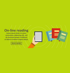 online reading banner horizontal concept vector image