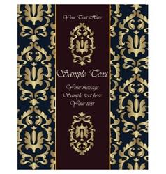 Renaissance royal classic ornament invitation vector
