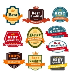 Set of blank badges vector image vector image