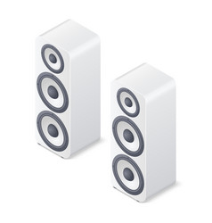 stereo system speakers isolated on white vector image