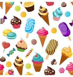 Sweet Seamless Pattern vector image vector image