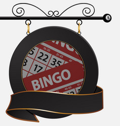 black bingo cafe sign and banner vector image vector image