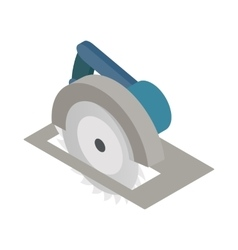 Circular saw icon isometric 3d style vector image
