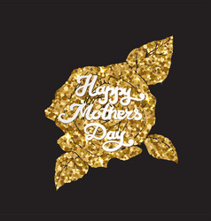 mothers day golden card happy mom day vector image vector image