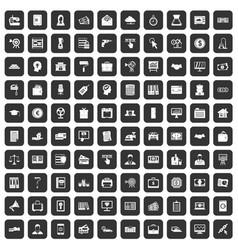 100 lending icons set black vector