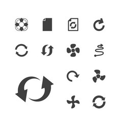 13 rotation icons vector
