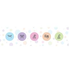 5 festive icons vector