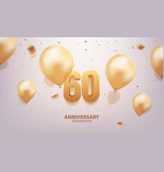 60th anniversary celebration vector