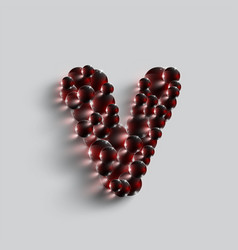 a letter made by red spheres vector image