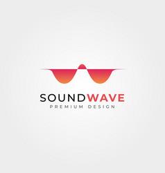 abstract sound wave logo design audio sound wave vector image