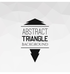 Abstract white triangle pattern vector image