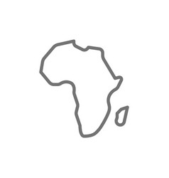 African continent africa line icon vector