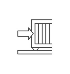 automatic gates line outline icon vector image