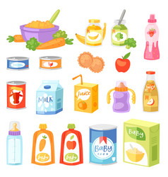 Baby food child healthy nutrition fresh vector