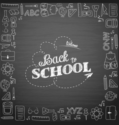 back to school hand-drawn doodles background vector image