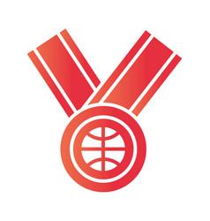 basketball game medal award recreation sport vector image