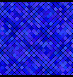 Blue abstract diagonal square pattern background vector