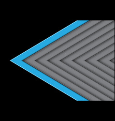 blue on gray arrow pattern direction with black vector image