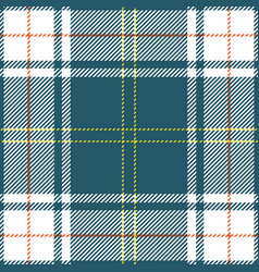 Blue orange yellow tartan plaid scottish pattern vector