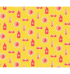 Bright fun summer seamless pattern with sunscreen vector image