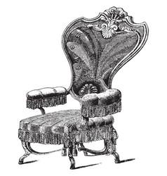 Chair vintage vector