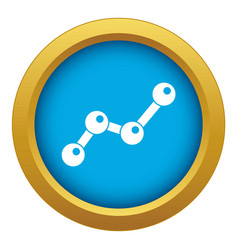 chart statistics line icon blue isolated vector image