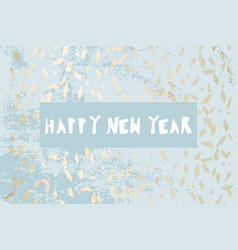 chic winter pastel gold print vector image