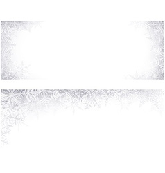 Christmas banners with crystallic snowflakes vector image