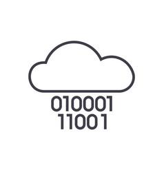 Cloud servicedigits zero onebinary code vector