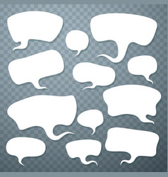 cloud talk set art shape vector image