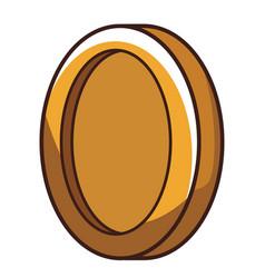 Coin videogame element cartoon vector